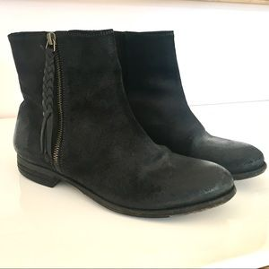 N.d.c. Black Leather Ankle Boots